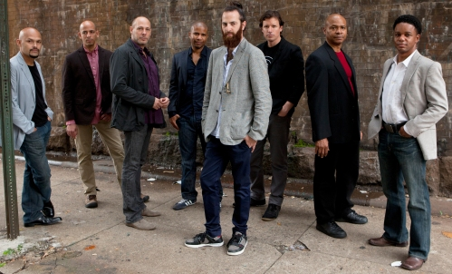 The San Francisco Jazz Collective. Avishai Cohen, trumpeter, has a cutaway mouthpiece on a necklace.