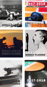 Daily and weekly calendar-planners with motivational quotes and pracice tips.